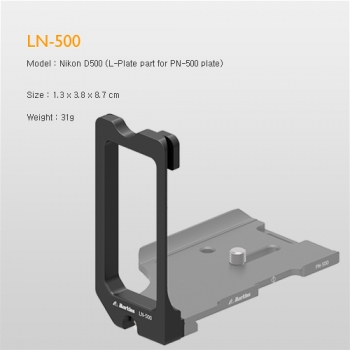 Markins LN-500 L-plate part for PN-500 Nikon D500