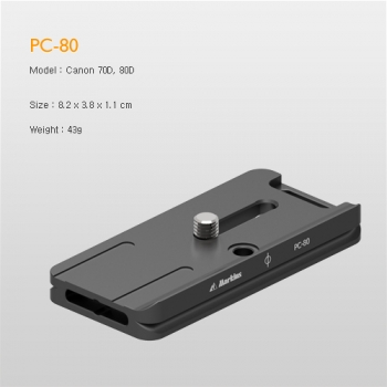 Markins Camera Plate PC-80 for Canon 70D-80D