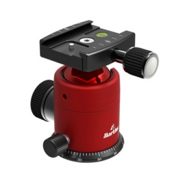 Markins Ball Head Q10i with Quick Release red