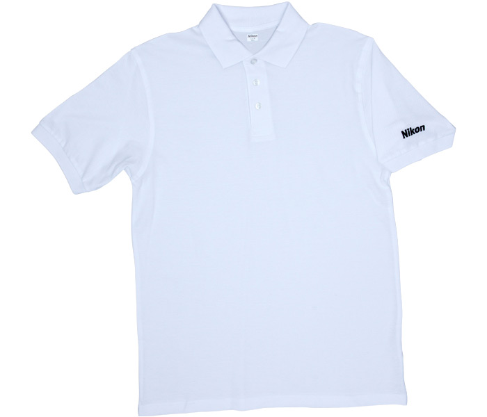 wholesale dealer 25861 b2508 Nikon Weisses Poloshirt