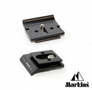 Markins Camera Plate PG-50 for Nikon and Canon with BG